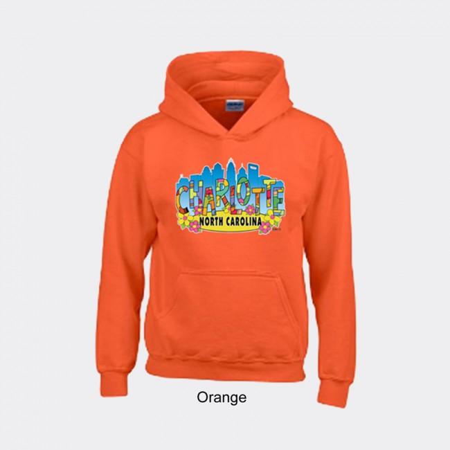 Gildan Youth Heavyweight Blend Hooded Sweater - Charlotte Art Letters