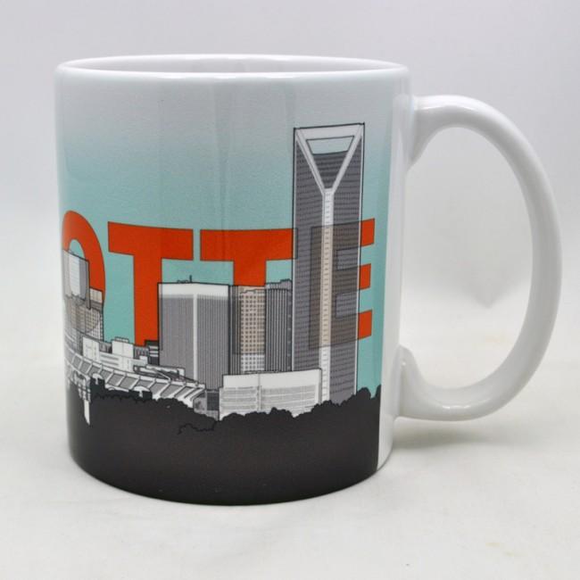 11 Oz. Ceramic Mug - Charlotte Skyline Sketch