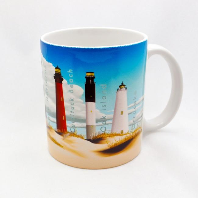 11oz Ceramic Mug North Carolina Lighthouses