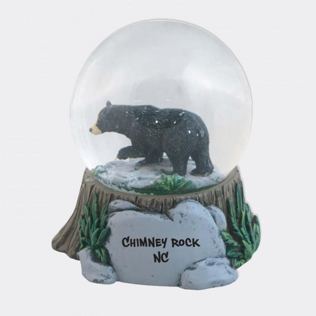 Large Bear Snow Globe with Resin Base (65 mm) Natural Wonders - Chimney Rock, NC