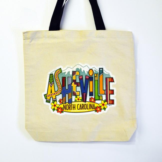 Canvas Tote Bag - Asheville Art Letters